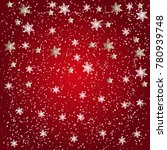 christmas snowflakes and stars... | Shutterstock .eps vector #780939748