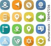 flat vector icon set   pointer... | Shutterstock .eps vector #780947236