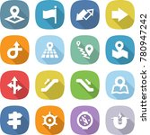 flat vector icon set   pointer... | Shutterstock .eps vector #780947242