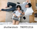 top view of lover using the... | Shutterstock . vector #780951316