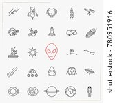 astronomy space line icons set   Shutterstock .eps vector #780951916