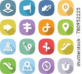 flat vector icon set   pointer... | Shutterstock .eps vector #780952225