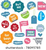colorful icons  signs  vector   Shutterstock .eps vector #78095785