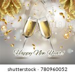 Vector Happy New Year With...