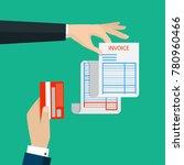 receipt icon  flat style... | Shutterstock .eps vector #780960466