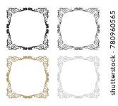 classical baroque vector set of ... | Shutterstock .eps vector #780960565