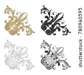 classical baroque vector set of ... | Shutterstock .eps vector #780960595