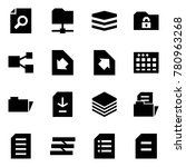 origami style icon set   search ... | Shutterstock .eps vector #780963268