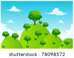 landscape hill and tree... | Shutterstock .eps vector #78098572
