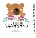 happy valentine's day card | Shutterstock .eps vector #780988282