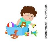 illustration of smiling kid boy ... | Shutterstock .eps vector #780990385