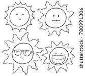 vector set of suns | Shutterstock .eps vector #780991306
