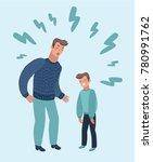 vector cartoon illustration of... | Shutterstock .eps vector #780991762