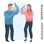 vector cartoon illustration of... | Shutterstock .eps vector #780991936