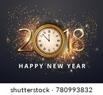 vector stock gold 2018... | Shutterstock .eps vector #780993832