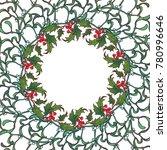 christmas ornamental circular...   Shutterstock .eps vector #780996646