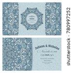 wedding invitation cards... | Shutterstock .eps vector #780997252