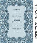 wedding invitation cards... | Shutterstock .eps vector #780997816