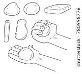vector set of clay for kid | Shutterstock .eps vector #780998776