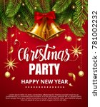 vector stock christmas party... | Shutterstock .eps vector #781002232