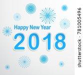 happy new year 2018  vector...   Shutterstock .eps vector #781005496
