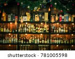 liquor bar and many alcohol... | Shutterstock . vector #781005598