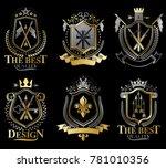 set of retro vintage insignias... | Shutterstock . vector #781010356