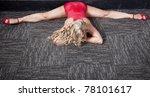 pole dancer stretching - stock photo