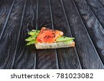 appetizer for reception.... | Shutterstock . vector #781023082