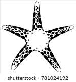 sea star logo starfish | Shutterstock .eps vector #781024192
