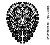 mask face demon spirit... | Shutterstock .eps vector #78102586