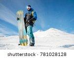 a professional snowboarder... | Shutterstock . vector #781028128