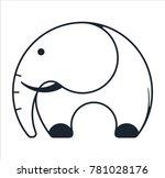 logo elephant and trunk | Shutterstock .eps vector #781028176