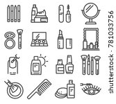 cosmetics and beauty icon set... | Shutterstock .eps vector #781033756