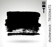 black brush stroke and texture. ... | Shutterstock .eps vector #781036672