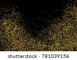 gold glitter texture isolated... | Shutterstock .eps vector #781039156