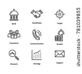 9 business line icons | Shutterstock .eps vector #781039855