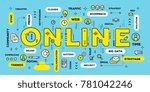 online service concept. vector... | Shutterstock .eps vector #781042246