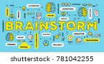 brainstorming concept with tag... | Shutterstock .eps vector #781042255