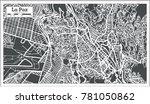 la paz bolivia city map in... | Shutterstock .eps vector #781050862