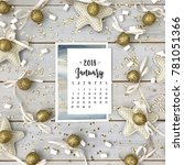 Calendar For January 2018 On A...