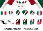 mexico complete set. vector... | Shutterstock .eps vector #781051885
