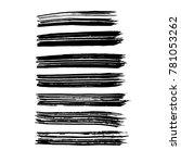 brush stroke set. texture. | Shutterstock .eps vector #781053262