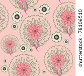 floral seamless background | Shutterstock .eps vector #78106510