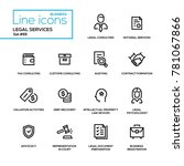 legal services   line design... | Shutterstock .eps vector #781067866