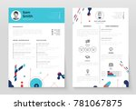 personal cv  set of modern... | Shutterstock .eps vector #781067875