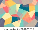 creative geometric colorful... | Shutterstock .eps vector #781069312