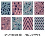 winter poster backgrounds with... | Shutterstock .eps vector #781069996