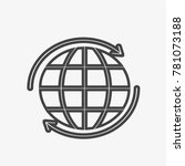 globe vector icon isolated on...