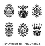 lily flowers royal symbols ... | Shutterstock . vector #781075516